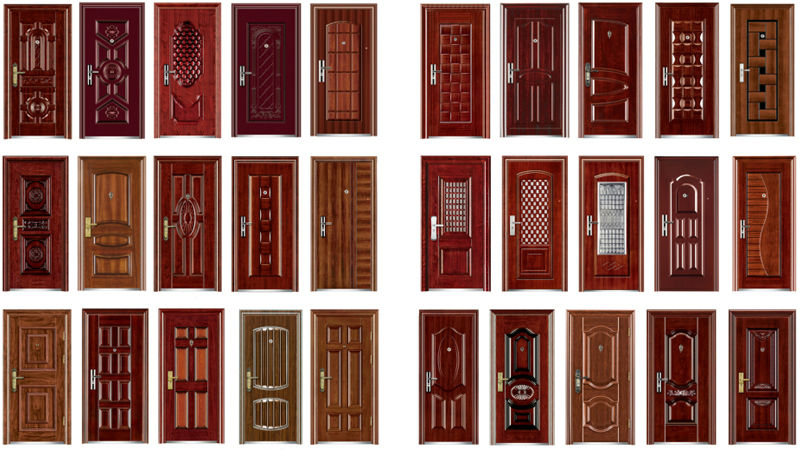 Fashion steel security door made in china view fashion for Different door designs
