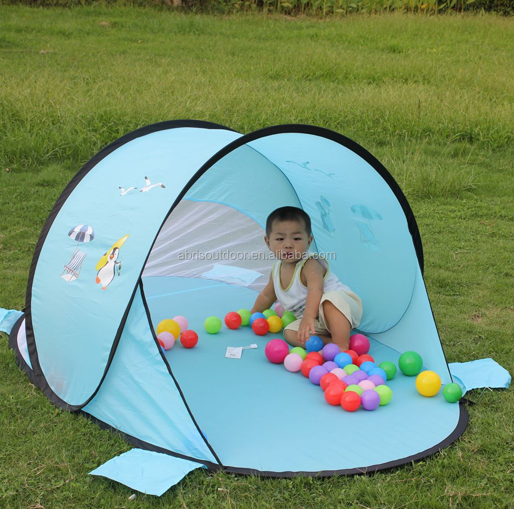 190T polyester pop up baby beach tent