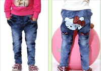 Джинсы для девочек BP003 Factory outlet Lowest Price children pants Hello kitty girl Jeans autumn kids trousers and Retail