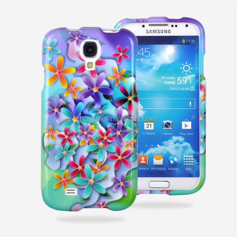 hot! flower cover for samsung galaxy s4, flower covers for samsung s4 9500