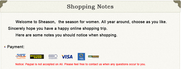 1 shopping notes