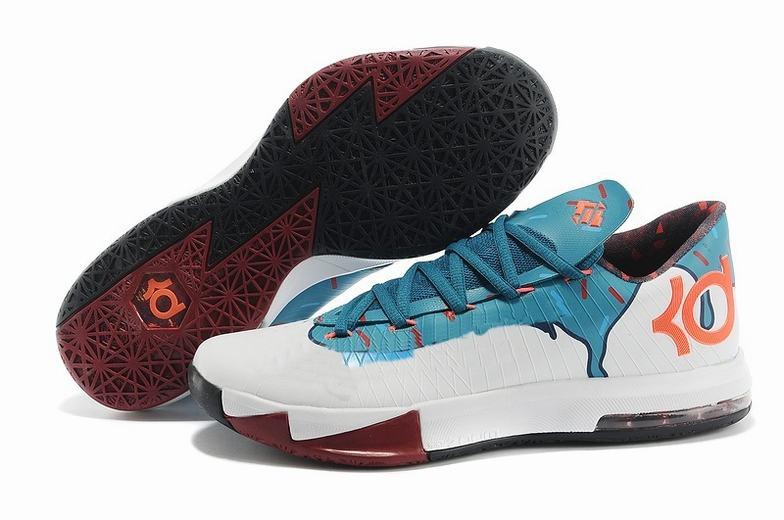 nike kd 6 red white cheap sneaker