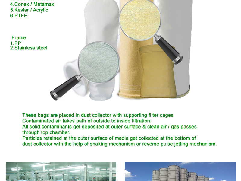 Aramaid dust arrestor and liquid filter bag