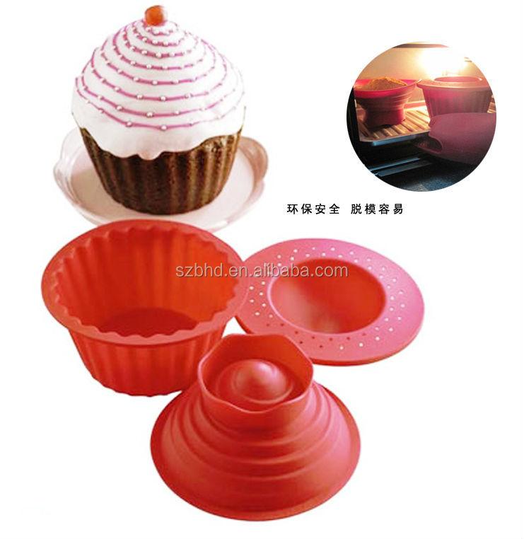 Jumbo Giant Big Silicone Birthday Cupcake Mould Mold Top Cup Cake