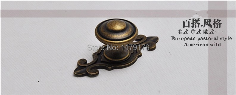 75mm vintage style furniture handles bronze drawer kitchen cabinet knobs pulls antique brass backplane dresser door handles knob