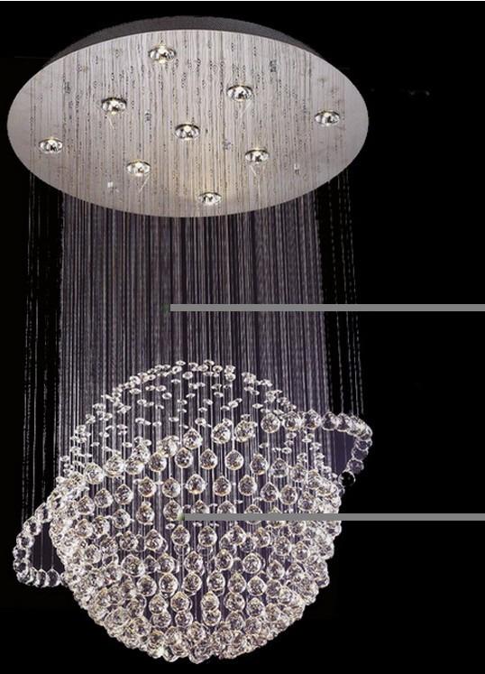 Купить Мяч современная хрустальная люстра потолочный светильник глобальный кристалл кулон свет для лестницы, Конференц-зал 100% гарантия