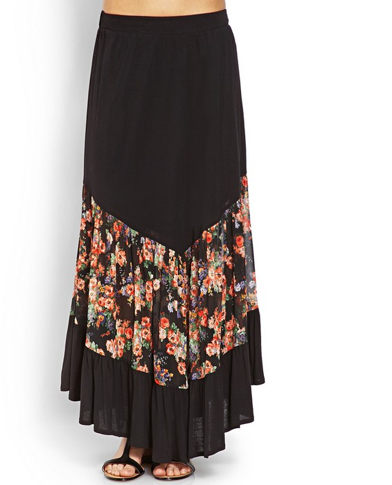 Long skirt classic latest skirt design of long skirt black ...