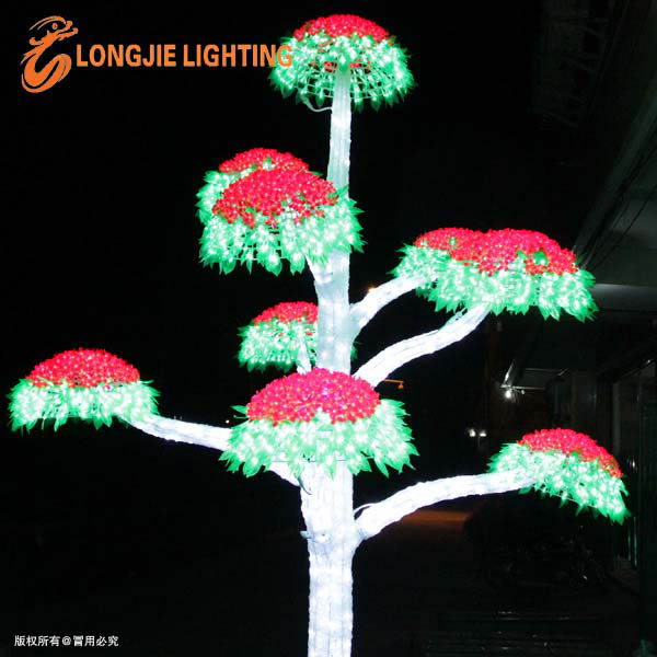 반짝이는 크리스마스 LED 꽃 나무 빛/ 주도 야외 조명 트리-휴일 ...