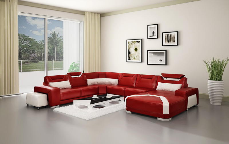 New Style Sofa Set Corner Leather Sofas Modern Beautiful