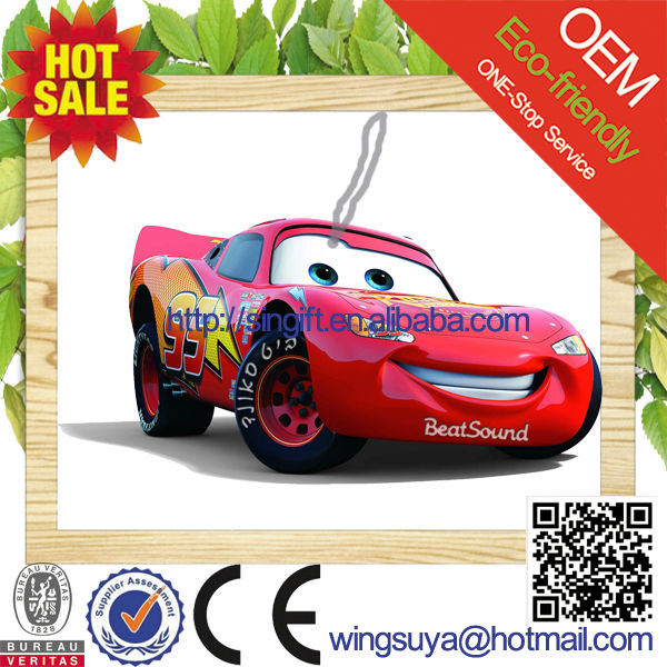 2015 new car scent custom make hanging paper car perfume wholesale