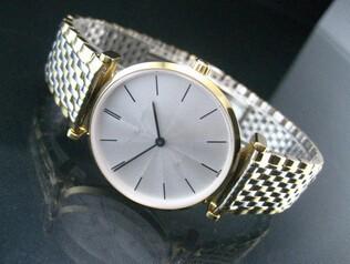Сверхтонкий бренд мужчин кварцевые часы 2 руки простой и классический дизайн для бизнеса футболки