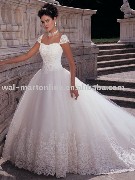 Lace Ball Gown Wedding Dresses With Cap Sleeves Cap Sleeves Ball Gown Lace