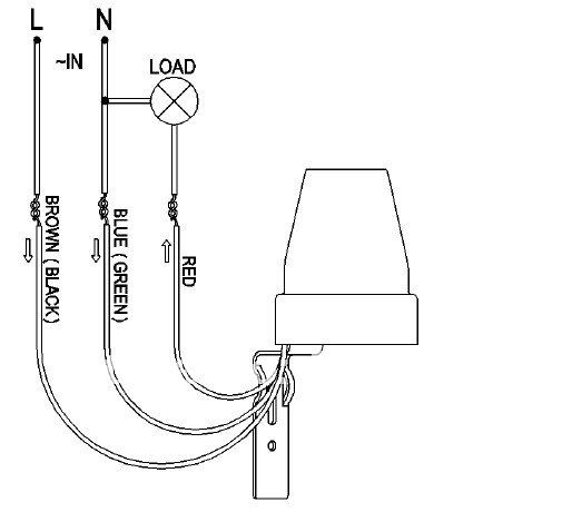 bs302 220v ac automatic photocell sensor light