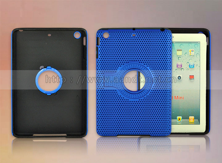 2014 New Product Two Color Stand Style Kids Tablet Case With Handle For iPad mini
