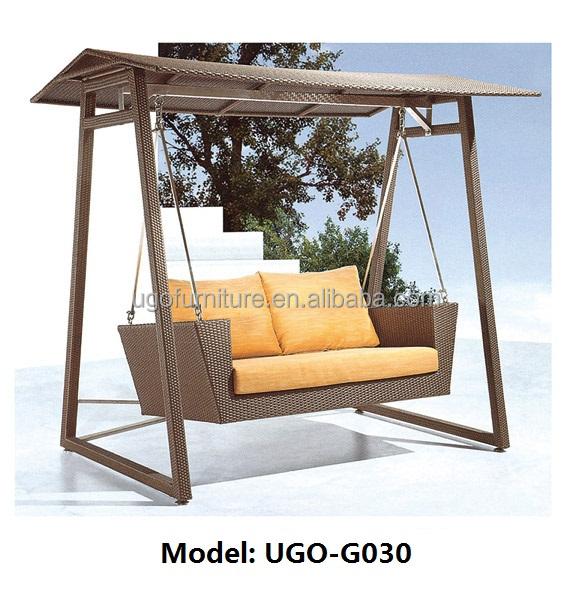 비 날씨 그네 의자 야외 파티오 가구, 위커 정원 철 프레임-정원 ...