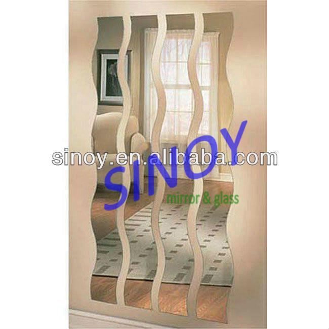 hot 5 mm belle ondul s en forme de miroir mural salon de. Black Bedroom Furniture Sets. Home Design Ideas