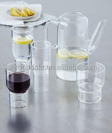 400ml pyrex borosilikatglas doppelwandig glas teekanne mit glasdeckel und filter tee f r eine. Black Bedroom Furniture Sets. Home Design Ideas