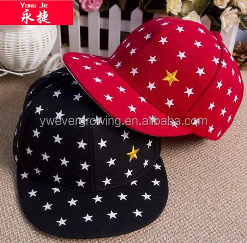 пользовательские моды оптовая плоский край ребенка шляпу snapback шапки