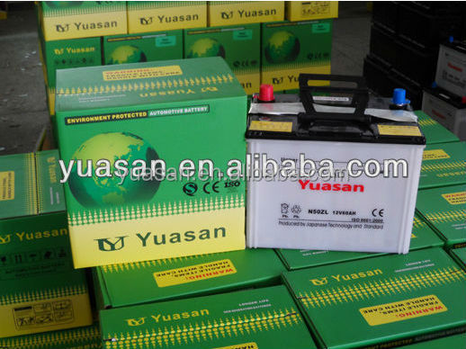 12V100AH Yuasan Power Dry Charged Heavy Duty Truck Batteries US-6TN Car Battery