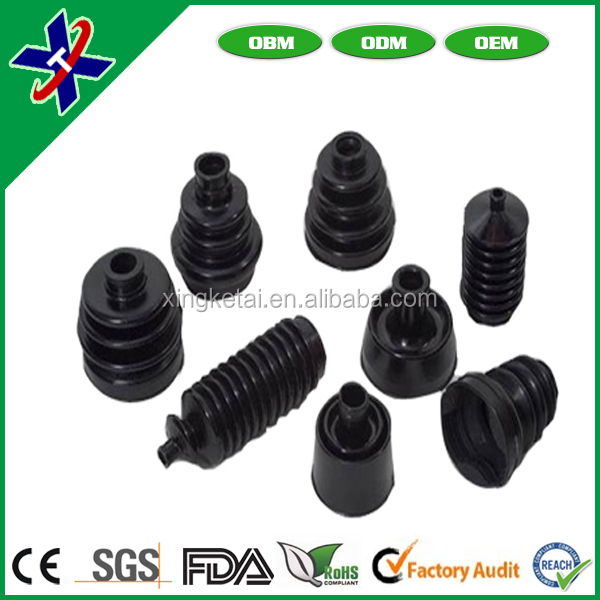Factory Customized high quality black rubber sleeve,rubber bushing