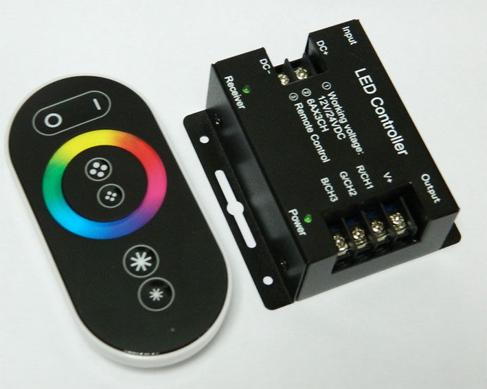 Color box RF full touch controller