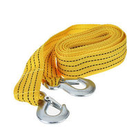 Буксировочный трос 12.8FT 3 Tons Car Tow Cable Towing Strap Rope with Hooks Emergency Heavy Duty