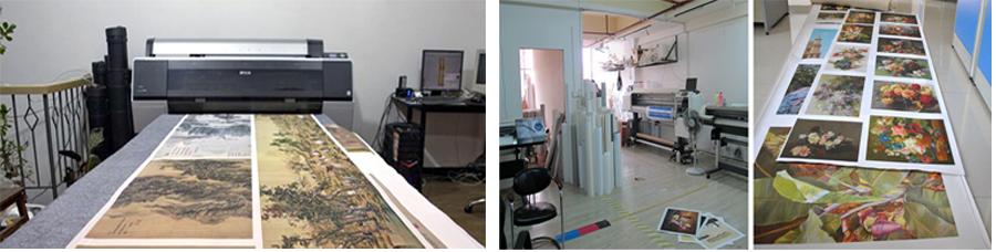 "Buy Quality oil painting home decor canvas prints abstract flower pots planters palette knife art 16""X32"" 19-sc-1 (114) cheap"
