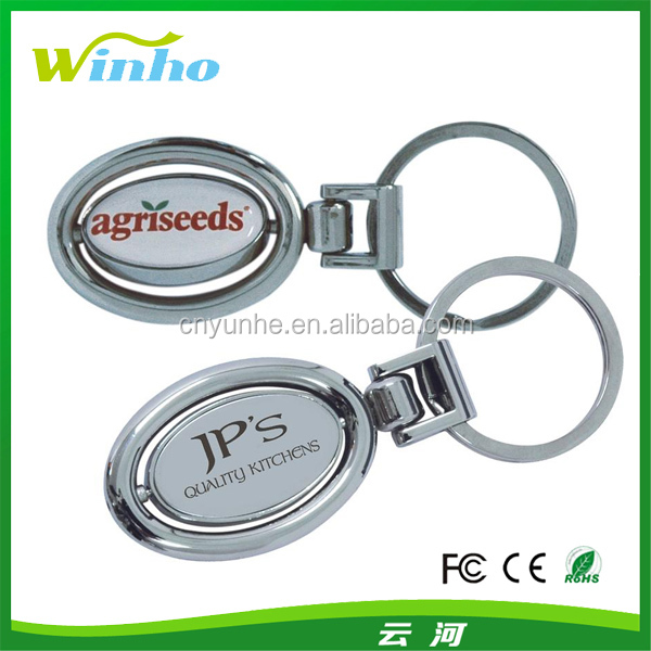 Personalised Metal Rotatable Keyring