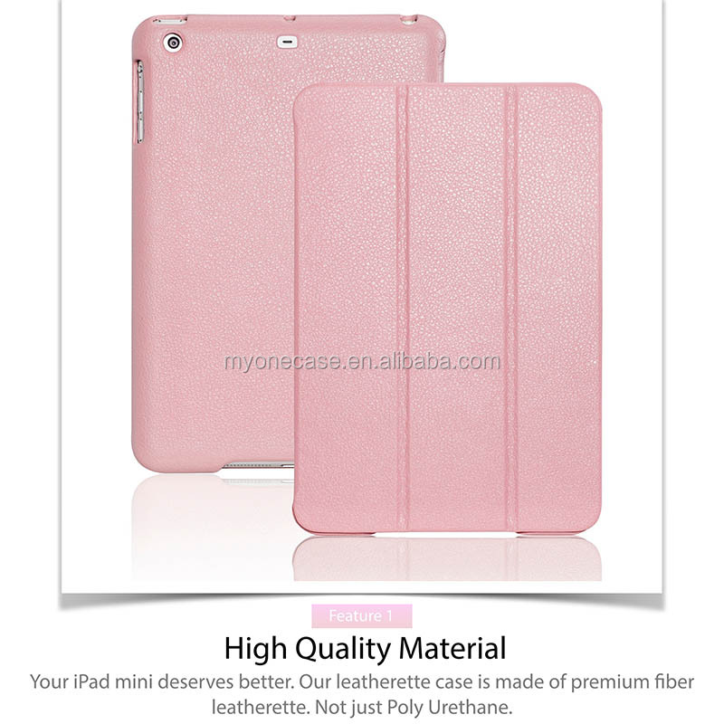 multi-angle viewing stand built-in magnet for iPad mini 2 retina case