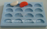 Форма Nicole rectangle silicone soap mold tray silicone rubber R0410