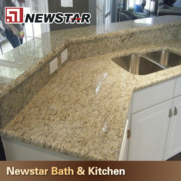 Design para a cozinha bancadas em granito ouro brasilTampos de mesas, balcõe -> Pia De Banheiro Com Granito Ouro Brasil