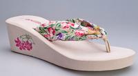 20 стили женщин клинья Тапочки платформа подошвы ботинки повелительницы флип flops елочка тапочка