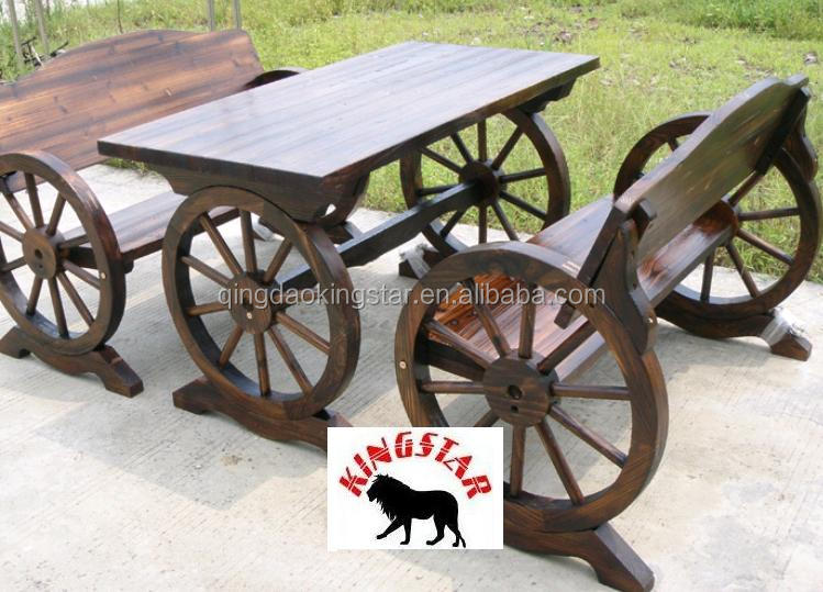 Cart Wheel Bench Wood Wheel Bench