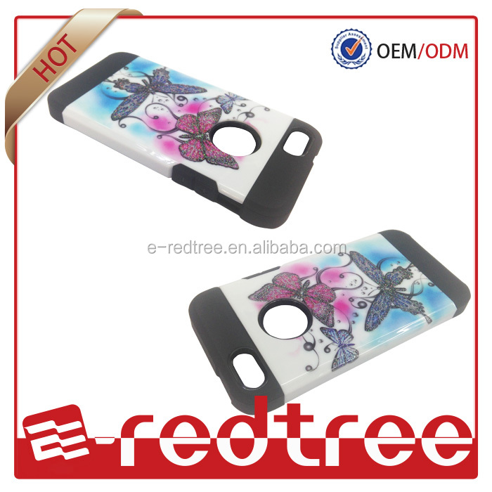 Armor style design with pc glossy mobile phone cover for iphone 5