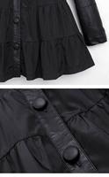 Новый za женщин Великобритании Весна зима плюс размер xl xxl xxxl 4xl 5 xl платье черные длинные рукава кожа vestido мини-платье