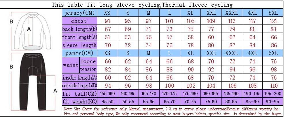 long kit size chart-Ao