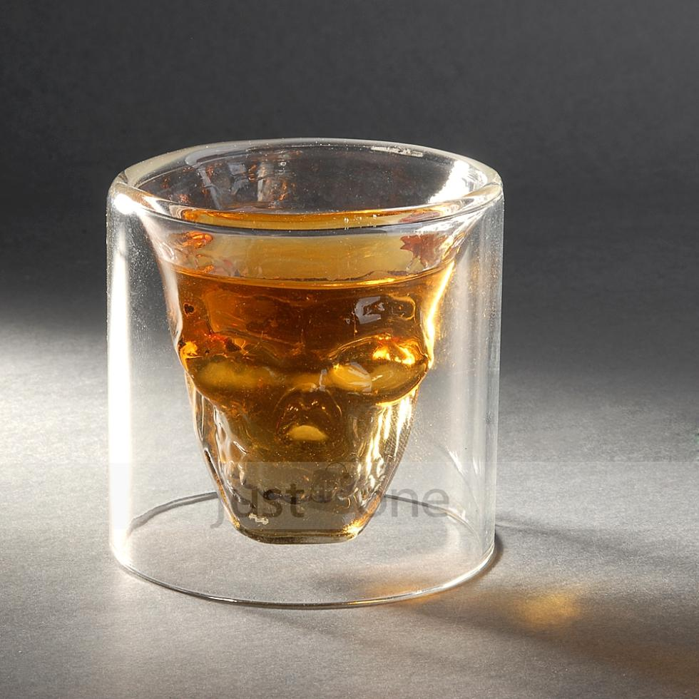 Cool Clear Skull Head Cup Party Decorative Crystal Skull