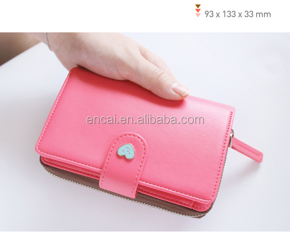 Encai Wholesale Fashion Heart Shape Logo Phone Wallet/Mobile Phone Case/Cell Phone Bag For Apple Phone & Samsung