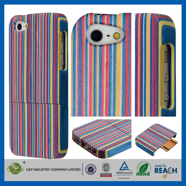 C&T Natural Bamboo case for iphone 5s,for iphone 5 wood case