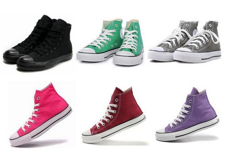 13 цветов Холст обувь низкий высокий стиль классические холст обувь, зашнуровать женщин мужчин кроссовки, обувь любителей, студентов звезды обувь