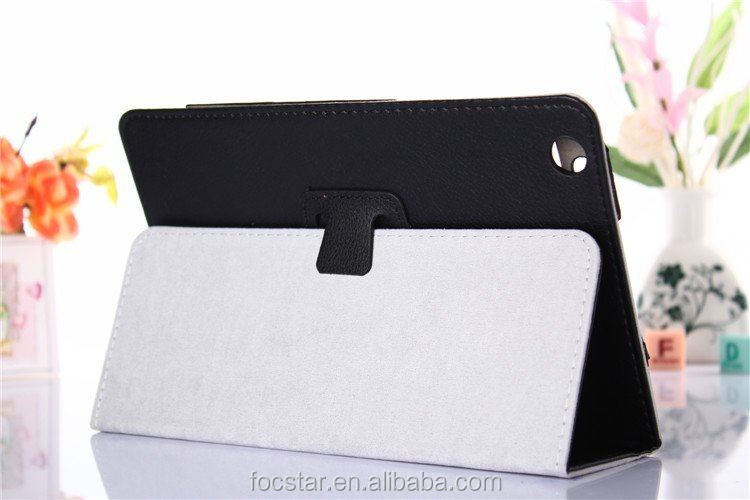 High Quality Litchi Skin Pattern Leather Cover for Lenovo A5500 F-LNA5500LC001
