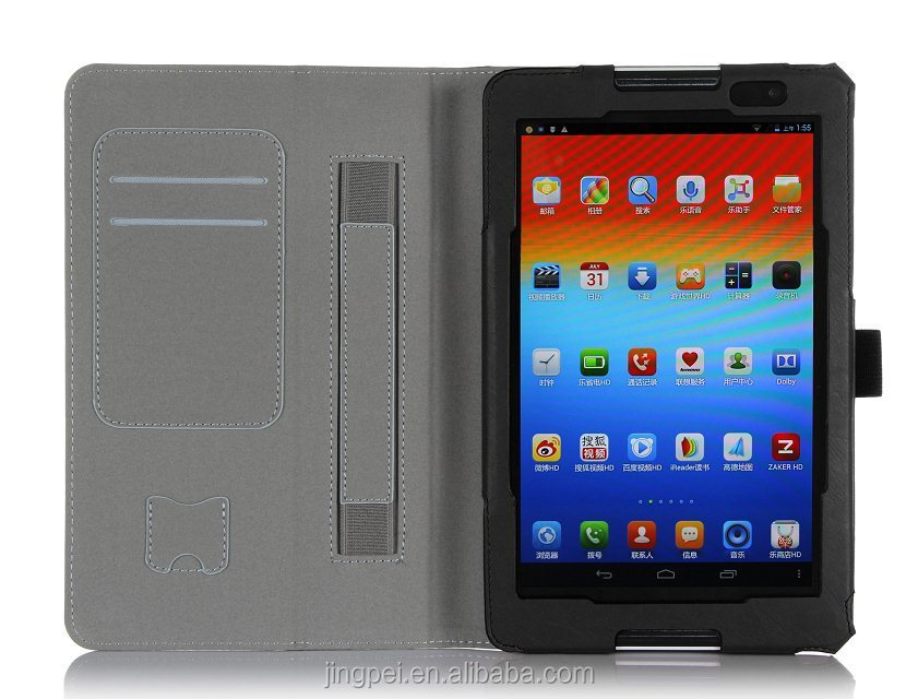 Stand Cover Case for Lenovo Tab A8-50 A5500 8 inch android tablet with Card Holder / Hand Strap