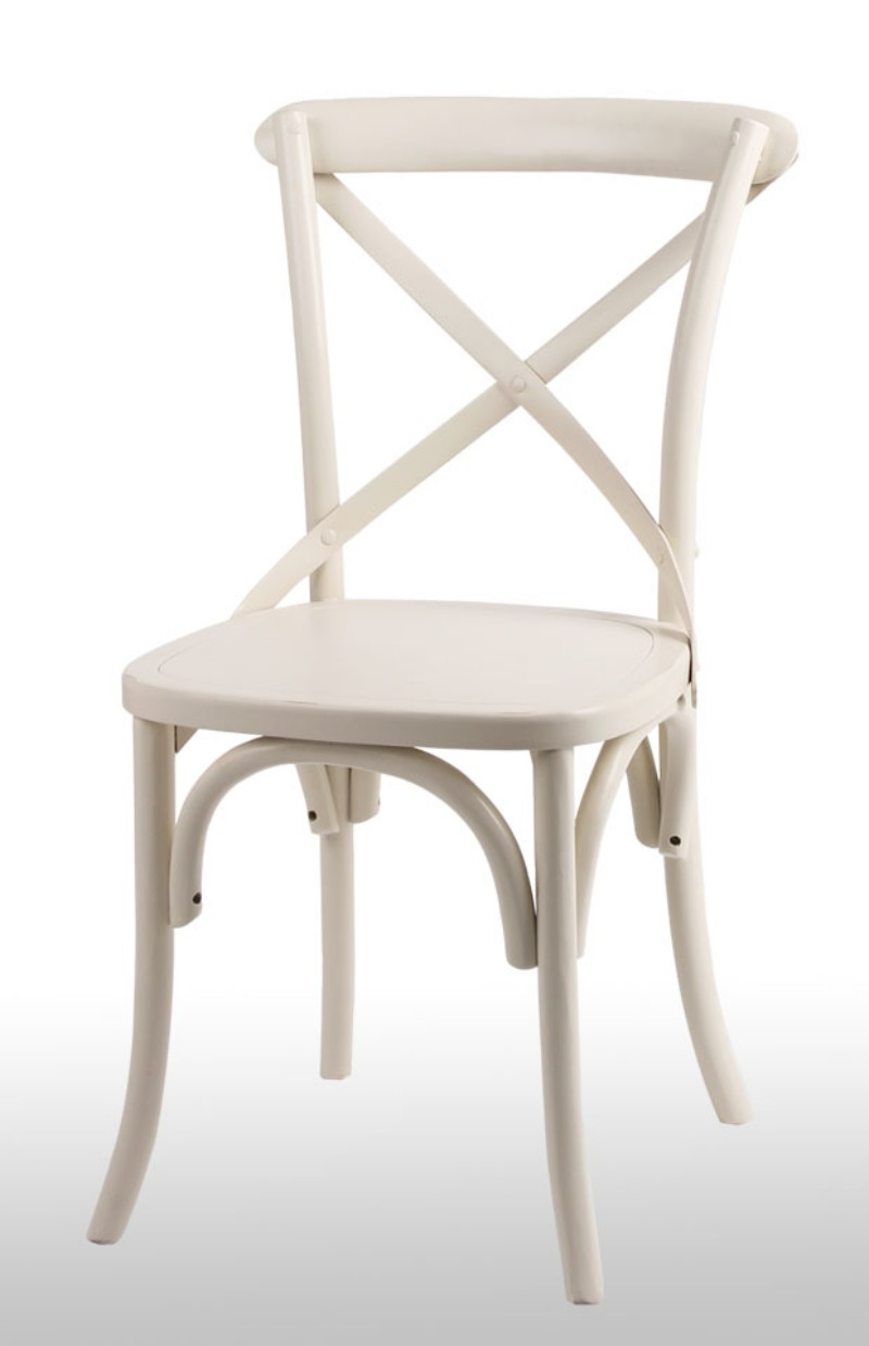 name noosa white french bistro style timber cross back dinin