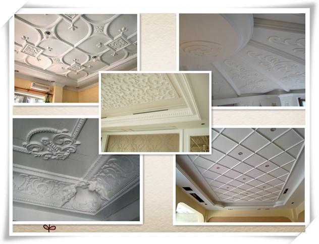 Europe style villa design interior decor heat insulation materials flower design gypsum plaster - Interior insulating materials ...