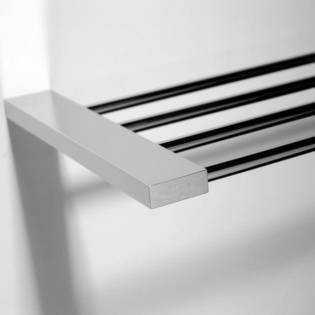 Square stainless steel bathroom corner shelf with brass