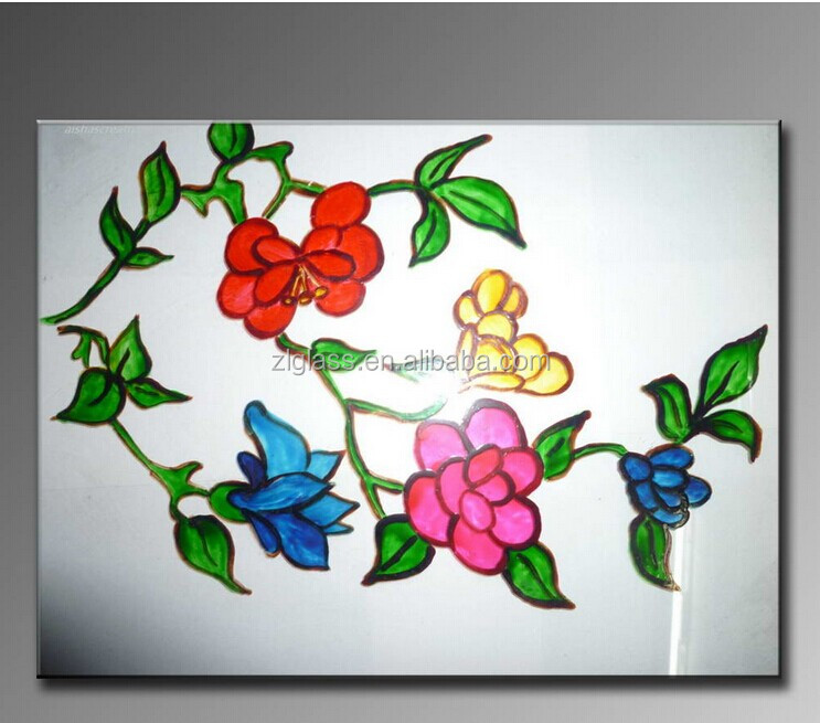 simple design g... Easy Flower Designs For Glass Painting