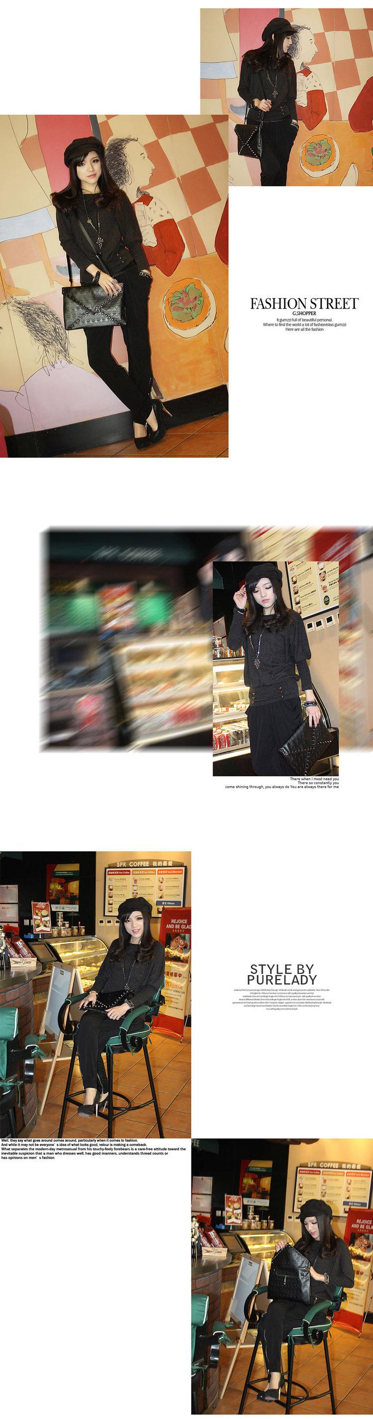 Новый корейский дизайнер 2015 мода заклепки конверт одного плеча женщин сумки череп сцепления через плечо панк бренд сумки для девочек