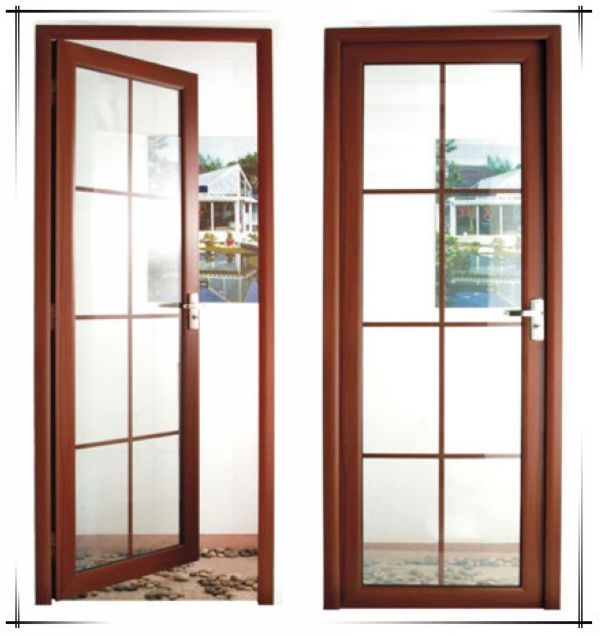 Wood grain aluminium doors and windows designs for Aluminium glass windows and doors