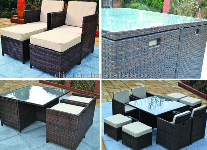 rattan antique furniture(table and chair) 70078