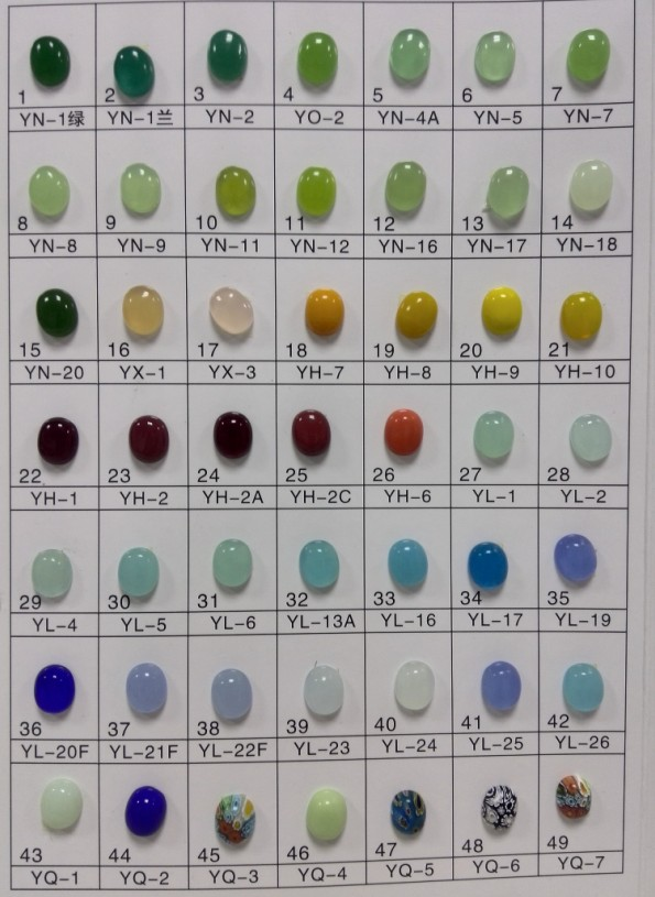 Aaa Ms Shape Cabochon Glass Stone Malay Jade Color Buy Emerald